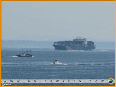 Tanker, Fishing Boat, Motorboat, photo credit S. Bennett